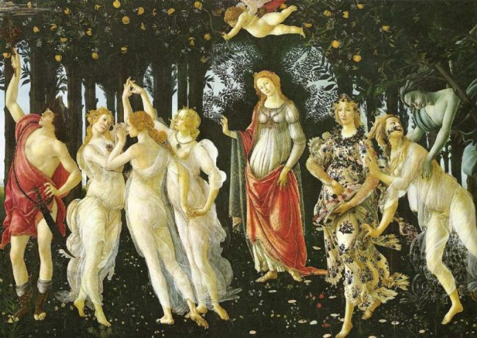 Botticelli, Sandro: The Primavera. Fine Art Print/Poster. Sizes: A4/A3/A2/A1 (00245)
